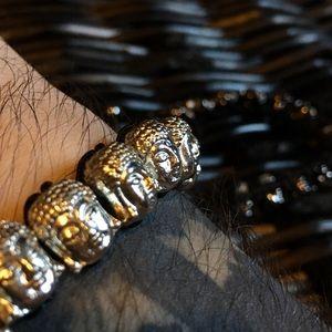 Jean Claude Buddha Charm Bracelet NWT, Silver